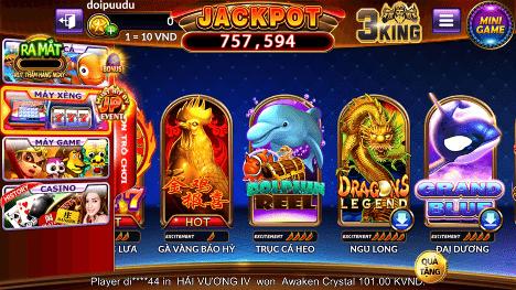 Tính co up thap thanh năng đặc biệt trong slot game NGŨ LONG