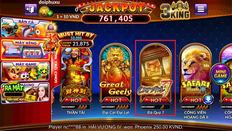 Slot game Đá Quý 7 – Chơi vui thắng lớn cùng 4 giải thưởng Jackpot game ban ca