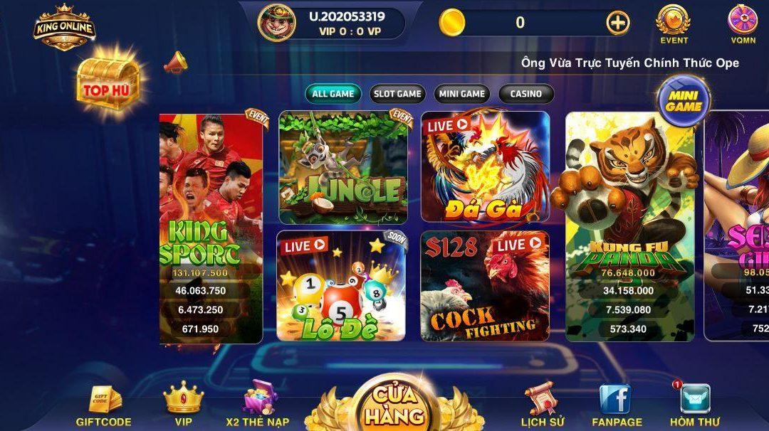 Đánh bài King – Địa chỉ chơi slot game uy tín