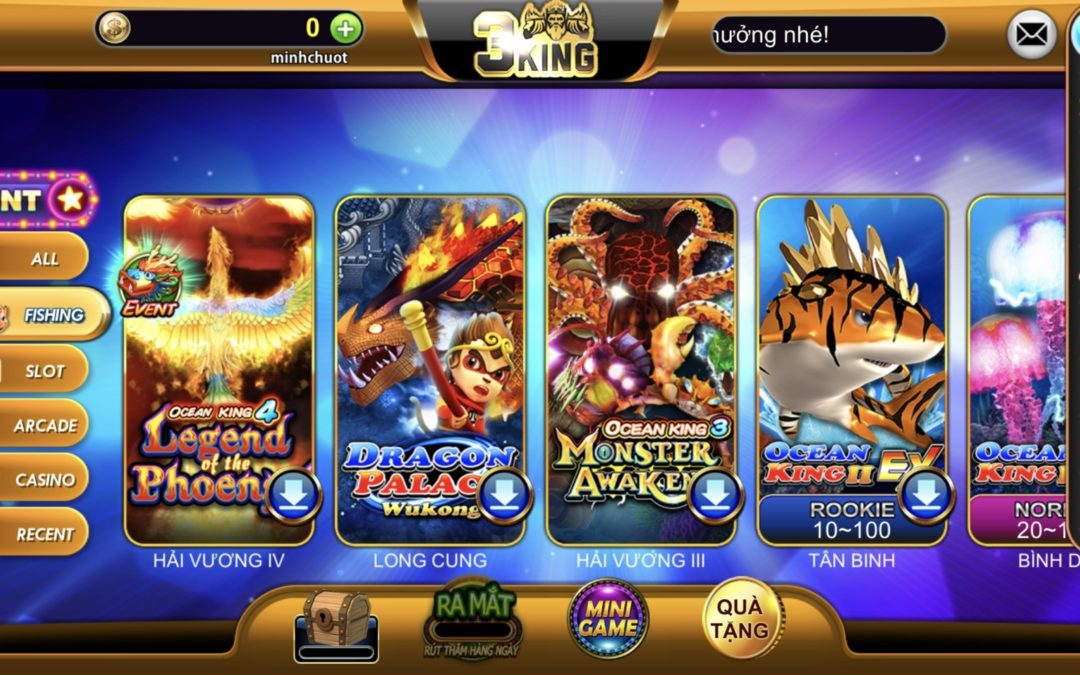 Play fish shooting game at 3KING – Shoot with your hand, get instant cash